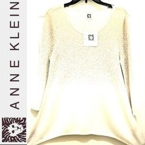 NWT ANNE KLEIN CAMELLA SWEATER